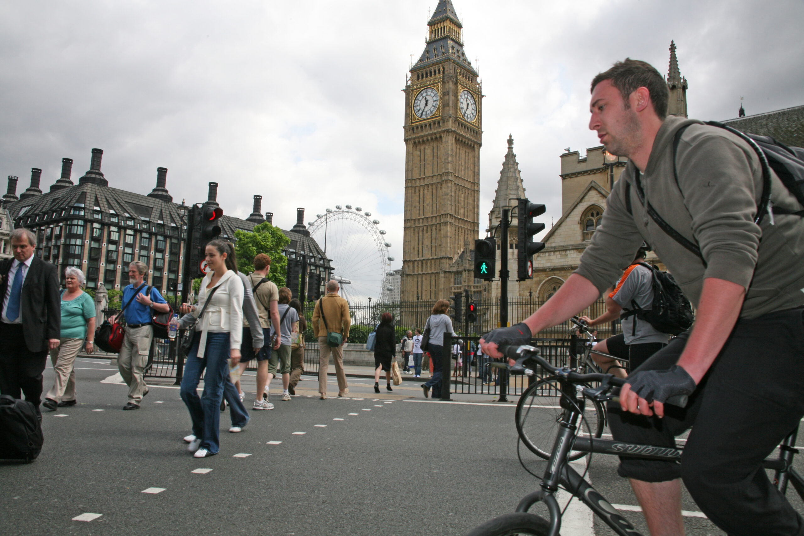 Cyclist and Big Ben