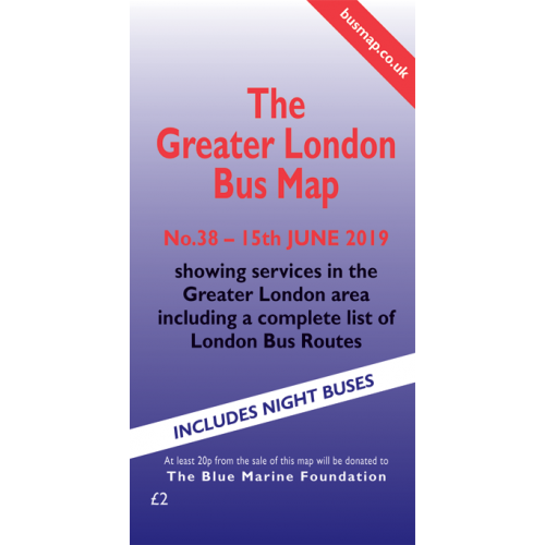 Greater London bus map