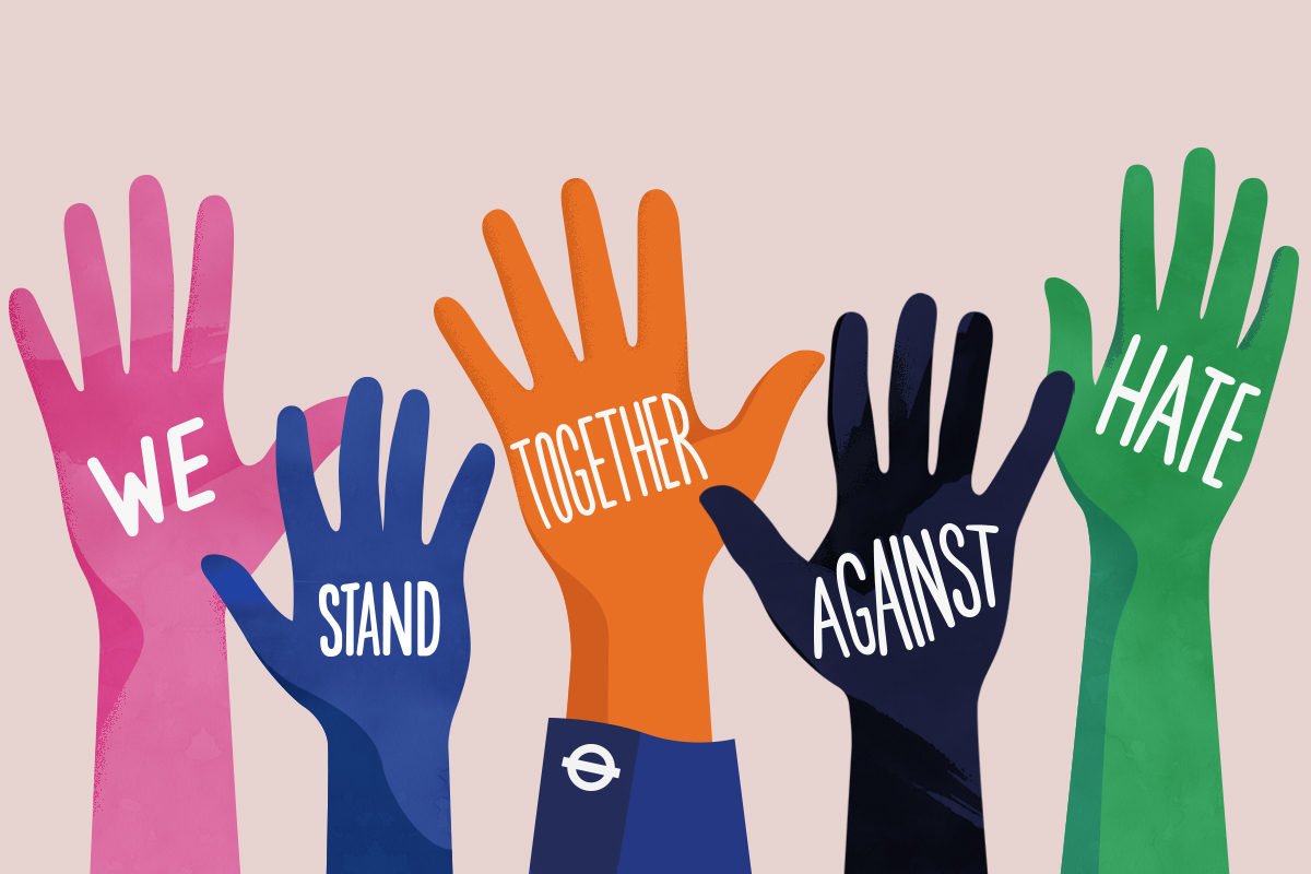 TfL Together Against Hate Campaign poster